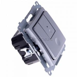 Simon 54 D75310.01/43 - Ściemniacz dwu przyciskowy 40-500W - Srebrny Mat - Podgląd zdjęcia 360st. nr 2