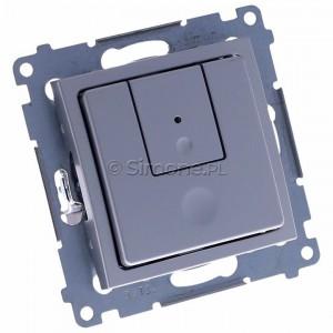 Simon 54 D75310.01/43 - Ściemniacz dwu przyciskowy 40-500W - Srebrny Mat - Podgląd zdjęcia 360st. nr 1