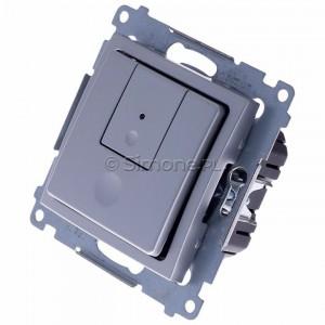 Simon 54 D75310.01/43 - Ściemniacz dwu przyciskowy 40-500W - Srebrny Mat - Podgląd zdjęcia 360st. nr 7