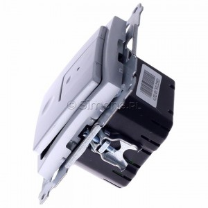 Simon 54 D75310.01/43 - Ściemniacz dwu przyciskowy 40-500W - Srebrny Mat - Podgląd zdjęcia 360st. nr 6