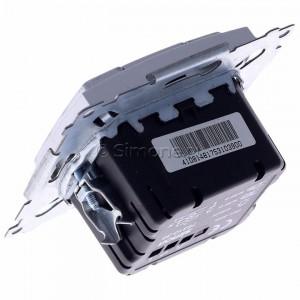 Simon 54 D75310.01/43 - Ściemniacz dwu przyciskowy 40-500W - Srebrny Mat - Podgląd zdjęcia 360st. nr 5