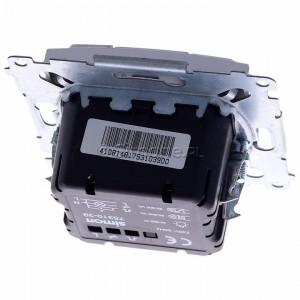 Simon 54 D75310.01/43 - Ściemniacz dwu przyciskowy 40-500W - Srebrny Mat - Podgląd zdjęcia 360st. nr 4