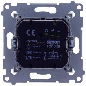 Simon 54 D75310.01/43 - Ściemniacz dwu przyciskowy 40-500W - Srebrny Mat - Podgląd zdjęcia 360st. nr 9