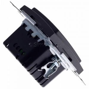 Simon 54 D75310.01/48 - Ściemniacz dwu przyciskowy 40-500W - Antracyt - Podgląd zdjęcia 360st. nr 3