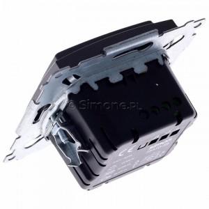 Simon 54 D75310.01/48 - Ściemniacz dwu przyciskowy 40-500W - Antracyt - Podgląd zdjęcia 360st. nr 5