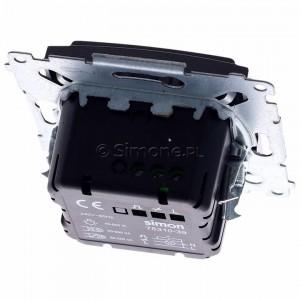 Simon 54 D75310.01/48 - Ściemniacz dwu przyciskowy 40-500W - Antracyt - Podgląd zdjęcia 360st. nr 4