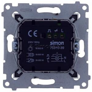 Simon 54 D75310.01/48 - Ściemniacz dwu przyciskowy 40-500W - Antracyt - Podgląd zdjęcia 360st. nr 9
