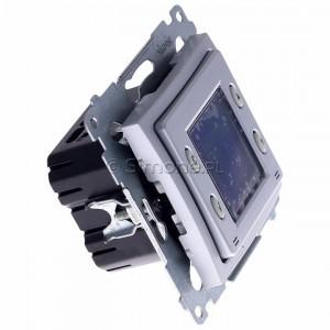 Simon 54 D75817.01/43 - Termostat elektroniczny z programatorem tygodniowym, wyświetlaczem LCD i wewnętrznym czujnikiem temperatury - Srebrny Mat - Podgląd zdjęcia 360st. nr 2