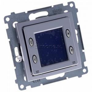 Simon 54 D75817.01/43 - Termostat elektroniczny z programatorem tygodniowym, wyświetlaczem LCD i wewnętrznym czujnikiem temperatury - Srebrny Mat - Podgląd zdjęcia 360st. nr 1