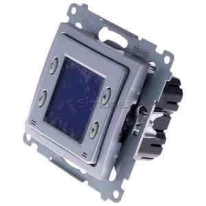Simon 54 D75817.01/43 - Termostat elektroniczny z programatorem tygodniowym, wyświetlaczem LCD i wewnętrznym czujnikiem temperatury - Srebrny Mat - Podgląd zdjęcia 360st. nr 7
