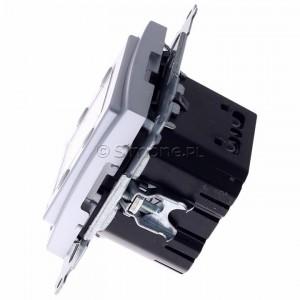 Simon 54 D75817.01/43 - Termostat elektroniczny z programatorem tygodniowym, wyświetlaczem LCD i wewnętrznym czujnikiem temperatury - Srebrny Mat - Podgląd zdjęcia 360st. nr 6