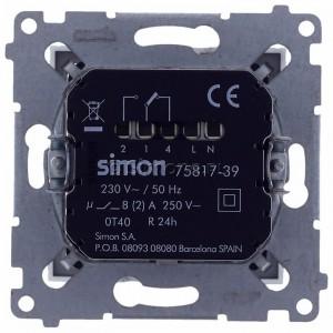 Simon 54 D75817.01/43 - Termostat elektroniczny z programatorem tygodniowym, wyświetlaczem LCD i wewnętrznym czujnikiem temperatury - Srebrny Mat - Podgląd zdjęcia 360st. nr 9