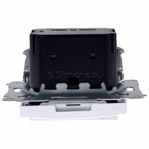 Simon 54 D75817.01/43 - Termostat elektroniczny z programatorem tygodniowym, wyświetlaczem LCD i wewnętrznym czujnikiem temperatury - Srebrny Mat - Podgląd zdjęcia 360st. nr 8