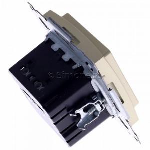 Simon 54 D75817.01/44 - Termostat elektroniczny z programatorem tygodniowym, wyświetlaczem LCD i wewnętrznym czujnikiem temperatury - Złoty Mat - Podgląd zdjęcia 360st. nr 3