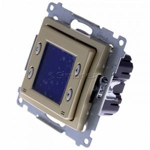 Simon 54 D75817.01/44 - Termostat elektroniczny z programatorem tygodniowym, wyświetlaczem LCD i wewnętrznym czujnikiem temperatury - Złoty Mat - Podgląd zdjęcia 360st. nr 7