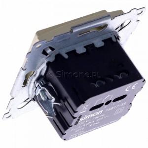 Simon 54 D75817.01/44 - Termostat elektroniczny z programatorem tygodniowym, wyświetlaczem LCD i wewnętrznym czujnikiem temperatury - Złoty Mat - Podgląd zdjęcia 360st. nr 5