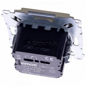 Simon 54 D75817.01/44 - Termostat elektroniczny z programatorem tygodniowym, wyświetlaczem LCD i wewnętrznym czujnikiem temperatury - Złoty Mat - Podgląd zdjęcia 360st. nr 4