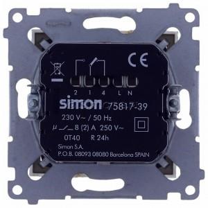 Simon 54 D75817.01/44 - Termostat elektroniczny z programatorem tygodniowym, wyświetlaczem LCD i wewnętrznym czujnikiem temperatury - Złoty Mat - Podgląd zdjęcia 360st. nr 9