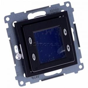 Simon 54 D75817.01/48 - Termostat elektroniczny z programatorem tygodniowym, wyświetlaczem LCD i wewnętrznym czujnikiem temperatury - Antracyt - Podgląd zdjęcia 360st. nr 1
