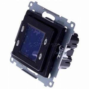 Simon 54 D75817.01/48 - Termostat elektroniczny z programatorem tygodniowym, wyświetlaczem LCD i wewnętrznym czujnikiem temperatury - Antracyt - Podgląd zdjęcia 360st. nr 7