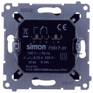 Simon 54 D75817.01/48 - Termostat elektroniczny z programatorem tygodniowym, wyświetlaczem LCD i wewnętrznym czujnikiem temperatury - Antracyt - Podgląd zdjęcia 360st. nr 9