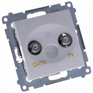 Simon 54 DAD1.01/11 - Gniazdo TV-DATA (pod internet kablowy) - Biały - Podgląd zdjęcia 360st. nr 1