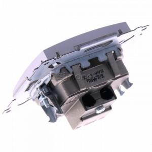 Simon 54 DAK.01/43 - Gniazdo antenowe R-TV końcowe separowane - Srebrny Mat - Podgląd zdjęcia 360st. nr 5