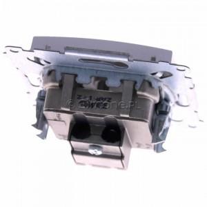 Simon 54 DAK.01/43 - Gniazdo antenowe R-TV końcowe separowane - Srebrny Mat - Podgląd zdjęcia 360st. nr 4