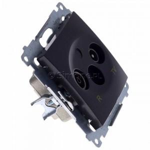 Simon 54 DAK.01/48 - Gniazdo antenowe R-TV końcowe separowane - Antracyt - Podgląd zdjęcia 360st. nr 2