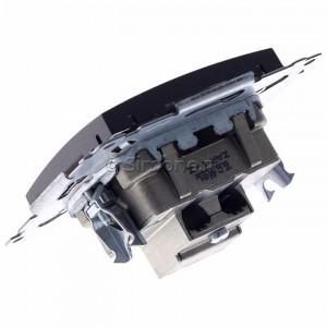 Simon 54 DAK.01/48 - Gniazdo antenowe R-TV końcowe separowane - Antracyt - Podgląd zdjęcia 360st. nr 5