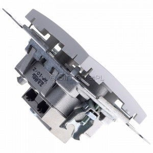 Simon 54 DAP10.01/11 - Gniazdo antenowe R-TV przelotowe 10dB - Biały - Podgląd zdjęcia 360st. nr 3