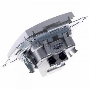 Simon 54 DAP10.01/11 - Gniazdo antenowe R-TV przelotowe 10dB - Biały - Podgląd zdjęcia 360st. nr 5