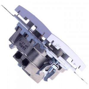 Simon 54 DAP10.01/43 - Gniazdo antenowe R-TV przelotowe 10dB - Srebrny Mat - Podgląd zdjęcia 360st. nr 3