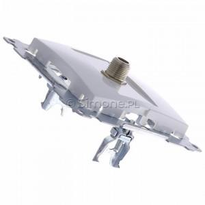 Simon 54 DASF1.01/11 - Gniazdo antenowe SAT typu F pojedyncze - Biały - Podgląd zdjęcia 360st. nr 3