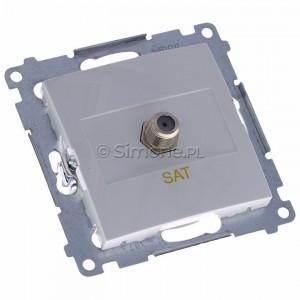 Simon 54 DASF1.01/11 - Gniazdo antenowe SAT typu F pojedyncze - Biały - Podgląd zdjęcia 360st. nr 1