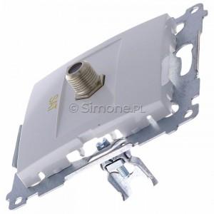 Simon 54 DASF1.01/11 - Gniazdo antenowe SAT typu F pojedyncze - Biały - Podgląd zdjęcia 360st. nr 6