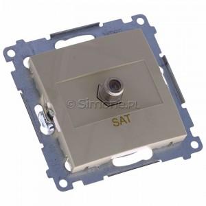 Simon 54 DASF1.01/41 - Gniazdo antenowe SAT typu F pojedyncze - Kremowy - Podgląd zdjęcia 360st. nr 1