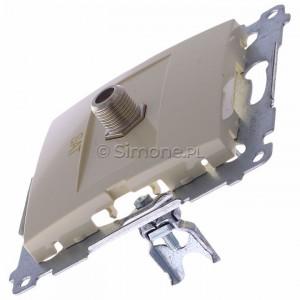Simon 54 DASF1.01/41 - Gniazdo antenowe SAT typu F pojedyncze - Kremowy - Podgląd zdjęcia 360st. nr 6