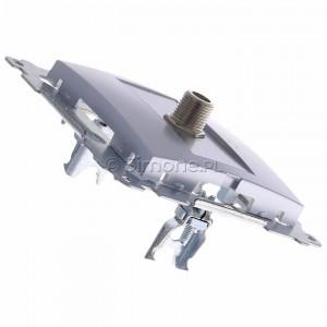 Simon 54 DASF1.01/43 - Gniazdo antenowe SAT typu F pojedyncze - Srebrny Mat - Podgląd zdjęcia 360st. nr 3