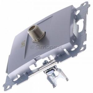 Simon 54 DASF1.01/43 - Gniazdo antenowe SAT typu F pojedyncze - Srebrny Mat - Podgląd zdjęcia 360st. nr 6