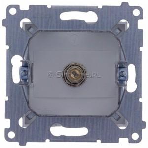Simon 54 DASF1.01/43 - Gniazdo antenowe SAT typu F pojedyncze - Srebrny Mat - Podgląd zdjęcia 360st. nr 9