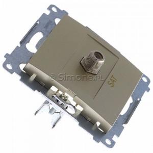 Simon 54 DASF1.01/44 - Gniazdo antenowe SAT typu F pojedyncze - Złoty Mat - Podgląd zdjęcia 360st. nr 2