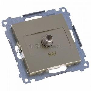 Simon 54 DASF1.01/44 - Gniazdo antenowe SAT typu F pojedyncze - Złoty Mat - Podgląd zdjęcia 360st. nr 1