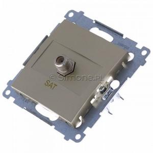 Simon 54 DASF1.01/44 - Gniazdo antenowe SAT typu F pojedyncze - Złoty Mat - Podgląd zdjęcia 360st. nr 7