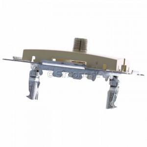 Simon 54 DASF1.01/44 - Gniazdo antenowe SAT typu F pojedyncze - Złoty Mat - Podgląd zdjęcia 360st. nr 4