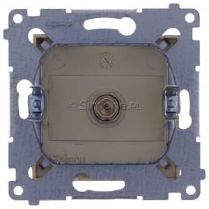 Simon 54 DASF1.01/44 - Gniazdo antenowe SAT typu F pojedyncze - Złoty Mat - Podgląd zdjęcia 360st. nr 9