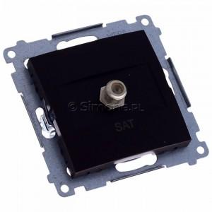Simon 54 DASF1.01/46 - Gniazdo antenowe SAT typu F pojedyncze - Brąz Mat - Podgląd zdjęcia 360st. nr 1