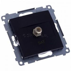 Simon 54 DASF1.01/48 - Gniazdo antenowe SAT typu F pojedyncze - Antracyt - Podgląd zdjęcia 360st. nr 1
