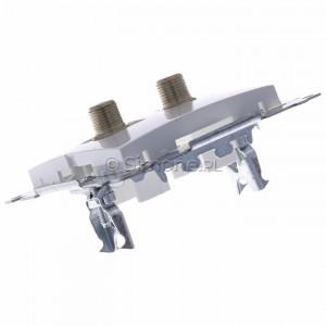Simon 54 DASF2.01/11 - Gniazdo antenowe SAT typu F podwójne - Biały - Podgląd zdjęcia 360st. nr 5