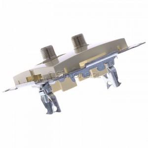 Simon 54 DASF2.01/41 - Gniazdo antenowe SAT typu F podwójne - Kremowy - Podgląd zdjęcia 360st. nr 5